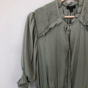 Anthropologie Dresses - NWT ANTHROPOLOGIE MIDI DRESS - sage green - M